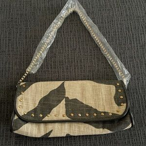 Loft hand bag with gold chain strap